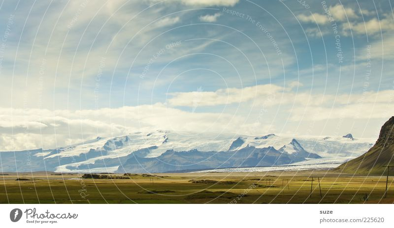Gletscher Natur schön Himmel Ferien & Urlaub & Reisen Wiese Berge u. Gebirge Freiheit Landschaft Zufriedenheit Umwelt Zeit Ausflug Tourismus Klima natürlich