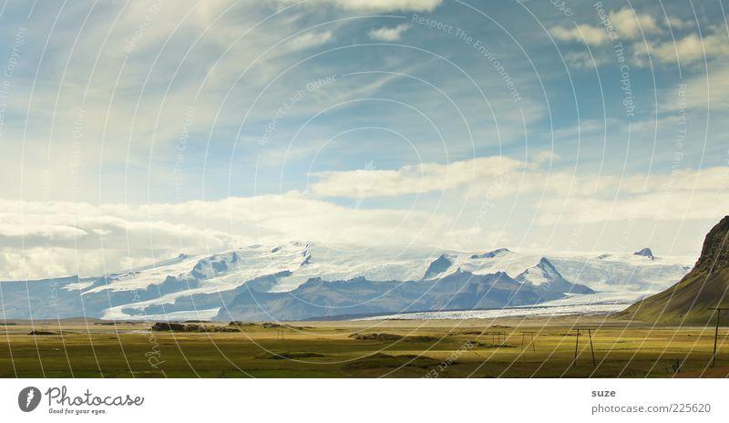 Gletscher Natur schön Himmel Ferien & Urlaub & Reisen Wiese Berge u. Gebirge Freiheit Landschaft Zufriedenheit Umwelt Zeit Ausflug Tourismus Klima natürlich außergewöhnlich