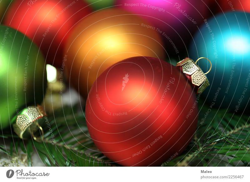 Weihnachtskugeln Ferien & Urlaub & Reisen Weihnachten & Advent grün rot Winter gelb Hintergrundbild Glück hell Dekoration & Verzierung Fröhlichkeit neu
