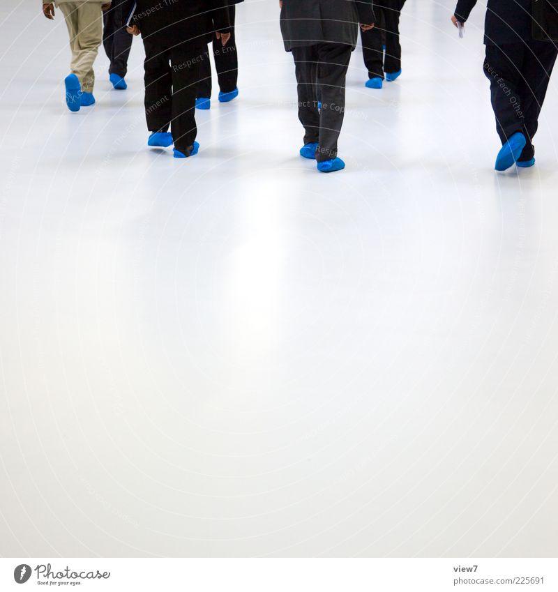 blue feet group Mensch blau weiß kalt sprechen Bewegung Menschengruppe Erwachsene Business gehen elegant laufen Design frei modern ästhetisch