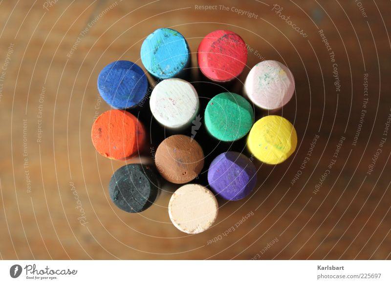 the colors. of my life. weiß grün blau rot schwarz gelb Farbe Holz braun rosa Design mehrere rund Freizeit & Hobby einzigartig Punkt
