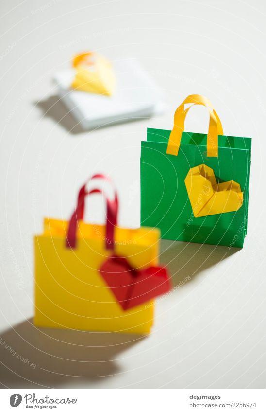 Kleine Einkaufstaschen Origami kaufen Mode Papier Verpackung neu rot weiß Tasche Geschenk Hintergrund Taschen Sale Einzelhandel Feiertag Symbole & Metaphern