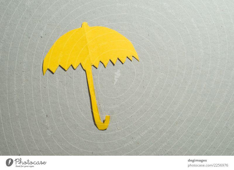 Objekt eines Regenschirms aus Papier Dekoration & Verzierung Herbst Klima Wetter blau rot weiß Schutz Farbe vereinzelt Origami Miniatur Objektfotografie
