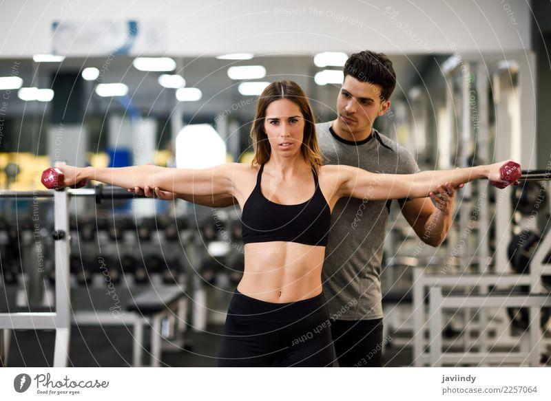 Frau Mensch Jugendliche Mann Junge Frau Junger Mann weiß 18-30 Jahre Erwachsene Lifestyle Sport feminin maskulin Körper Kraft Aktion