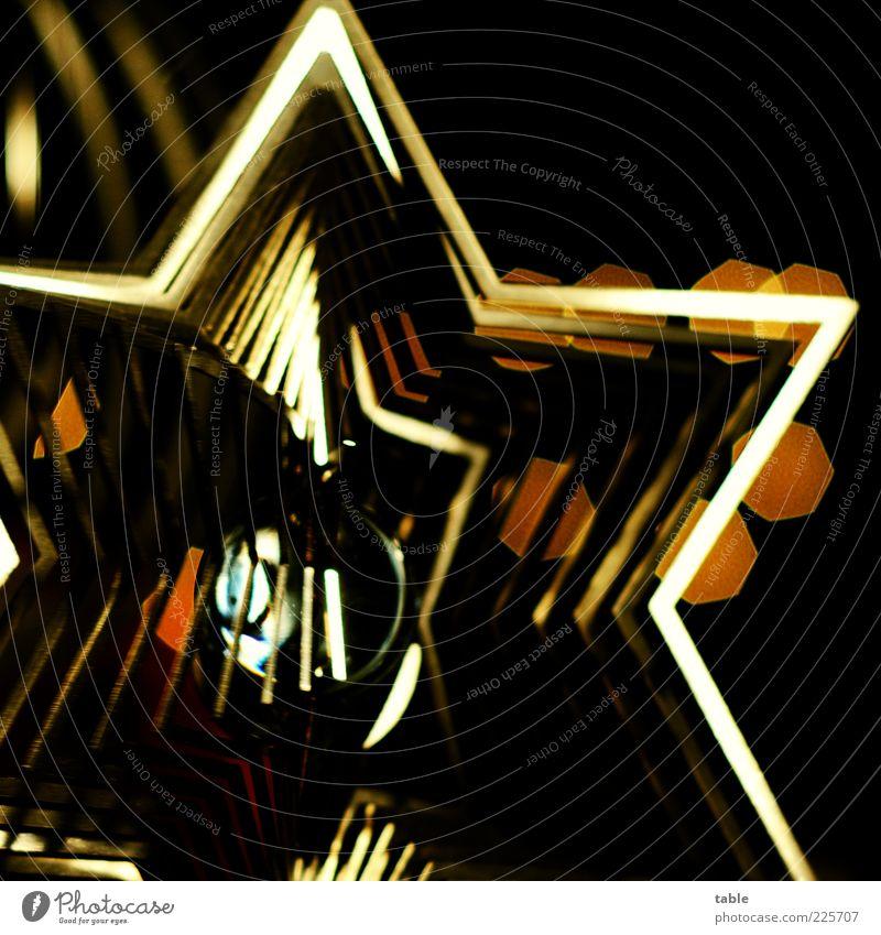 a star is born Lifestyle Reichtum Stil Dekoration & Verzierung Kitsch Krimskrams Glas Metall Zeichen Stern (Symbol) hängen leuchten außergewöhnlich dunkel eckig