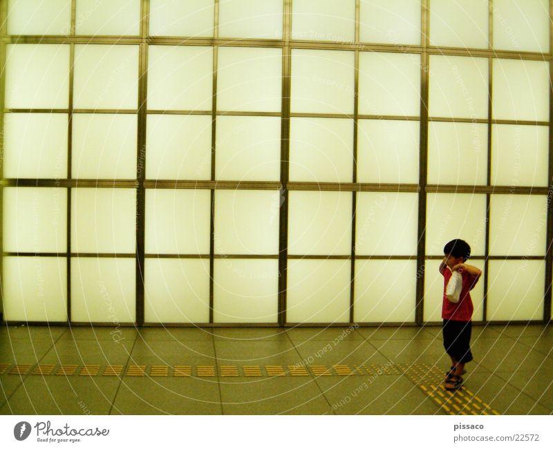 verlorenes kind Kind Mann Einsamkeit kariert