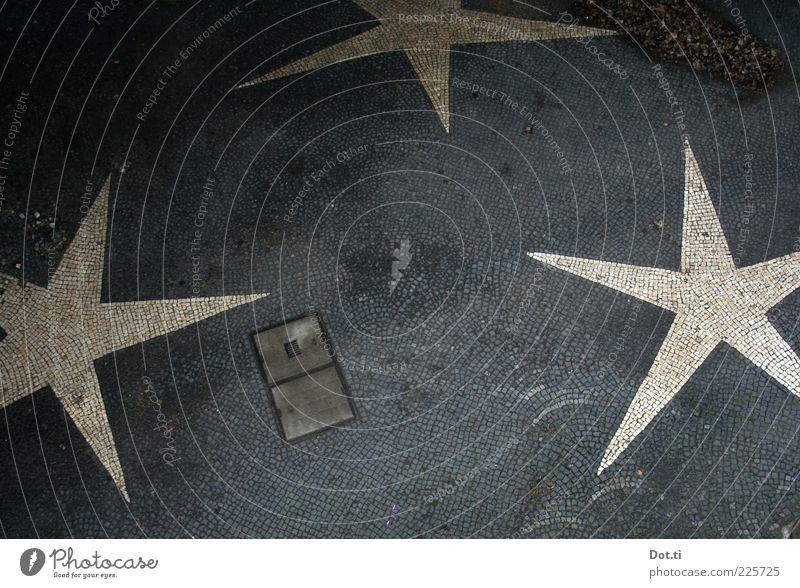 Schläfli-Pflasterung Menschenleer Platz Dekoration & Verzierung Stein Zeichen Spitze grau weiß Stern (Symbol) 3 Gully Pflastersteine Mosaik Vogelperspektive
