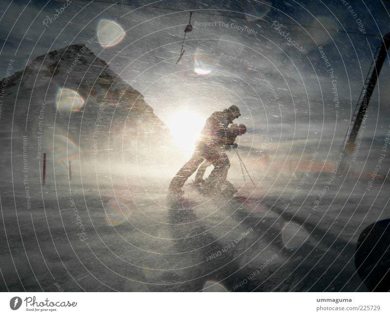 apocalypse Snow Stil Freizeit & Hobby Sport Skifahren Mensch Umwelt Natur Landschaft Himmel Sonne Sonnenlicht Winter Klima Wetter Schönes Wetter Wind Sturm Eis