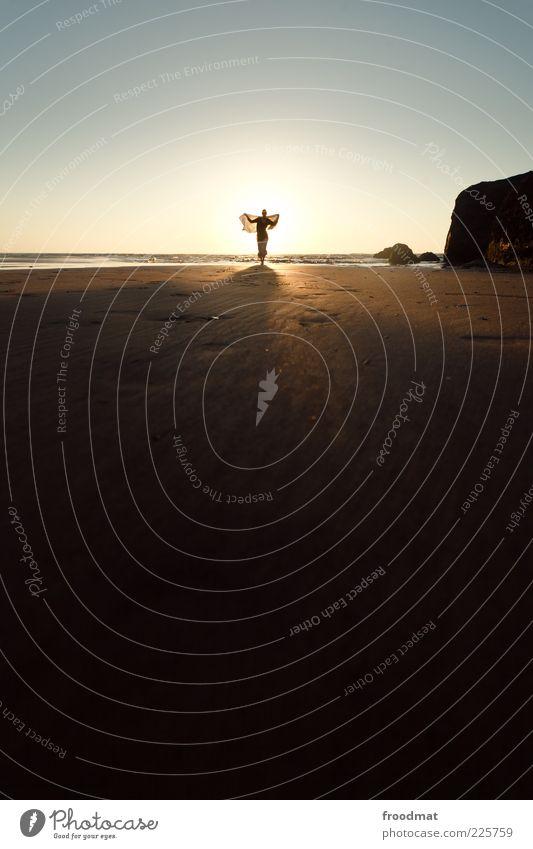 ein engel auf erden Frau Mensch Natur Sonne Ferien & Urlaub & Reisen Meer Sommer Strand Erwachsene Ferne Erholung feminin Freiheit Horizont Freizeit & Hobby Ausflug