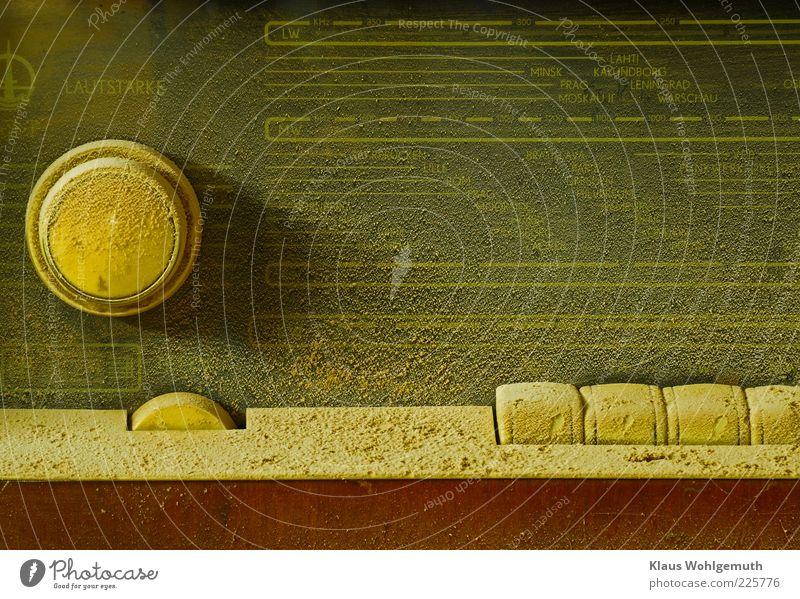 Gawarit Moskwa alt gelb braun dreckig Technik & Technologie Tastatur historisch Radiogerät Staub staubig Regler Sender Drehregler Knauf Unterhaltungselektronik
