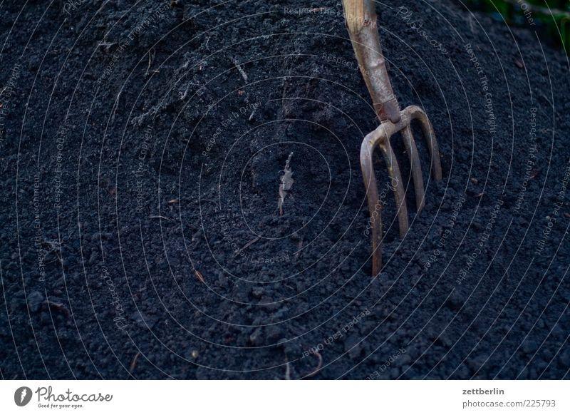 Wir basteln uns ein Hügelbeet Natur schwarz Umwelt dunkel Erde Arbeit & Erwerbstätigkeit dreckig Urelemente Werkzeug Gartenarbeit Haufen Feierabend Graben Forke