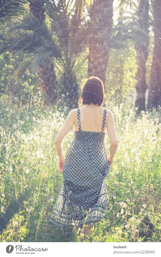 In der Prärie in voller Blüte Frau Natur Ferien & Urlaub & Reisen Pflanze Sommer Landschaft Sonne Erwachsene Leben Umwelt Wiese Stil Tourismus Freiheit Park