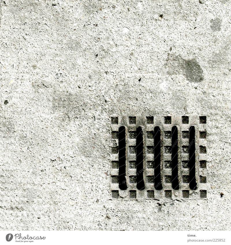|||||. Stein Metall dreckig Beton Ordnung ästhetisch authentisch einfach fest Zeichen Punkt Bürgersteig Stahl Quadrat Rost Eisen