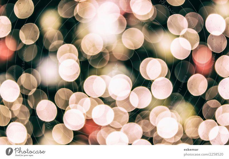 Bokeh Design Nachtleben Party Feste & Feiern Weihnachten & Advent Kunst Ornament Kugel glänzend ästhetisch rund schön Stadt grau rosa rot schwarz weiß Farbe