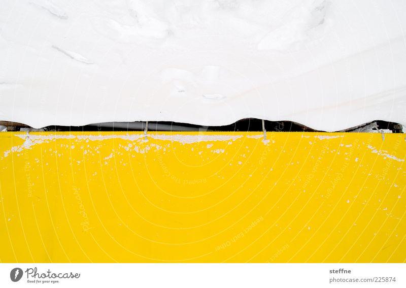 Schneedecke weiß Winter gelb kalt abstrakt Lücke Abdeckung Natur mehrfarbig