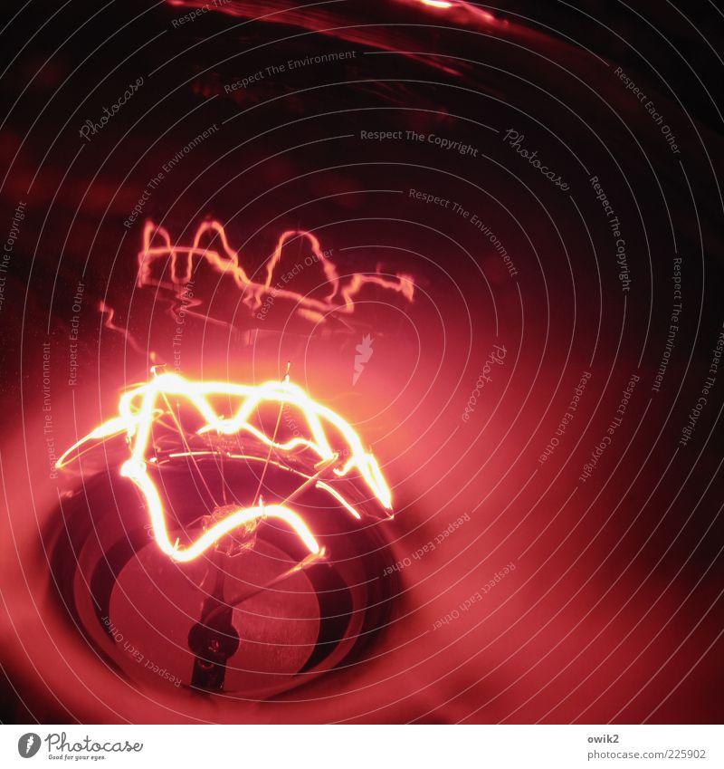 Parteiprogramm rot Wärme Metall Lampe Glas Energie leuchten Elektrizität Technik & Technologie heiß stark Draht Glühbirne Bildausschnitt glühen heizen