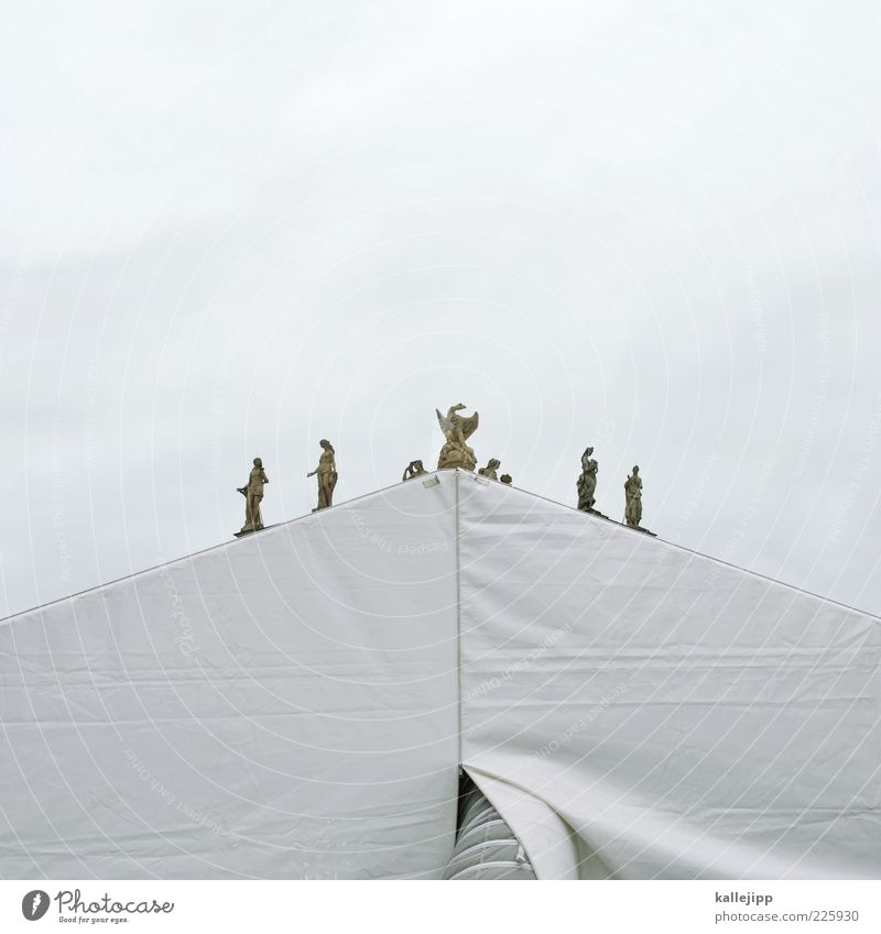 himmelszelt Himmel weiß Architektur Stein Kunst Dach Theater Statue Skulptur Geometrie Zelt Abdeckung Täuschung Kunstwerk Adler Dreieck