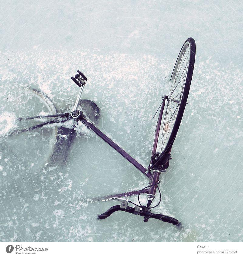 Dann geh ich halt zu Fuss Wasser Meer Winter kalt Schnee Stil See Wetter Eis Fahrrad Klima Lifestyle trist Frost Hafen