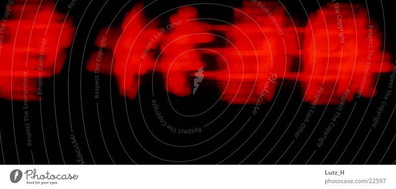 Die verwischte Zeit rot Uhr Langzeitbelichtung Elektrisches Gerät Technik & Technologie Radiowecker Unschärfe
