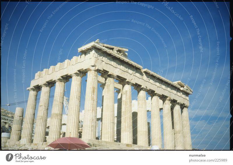 es könnte ja . . . Tourismus Ausflug Sightseeing Städtereise Sommer Sommerurlaub Insel Kunst Umwelt Himmel Schönes Wetter Griechenland Sehenswürdigkeit