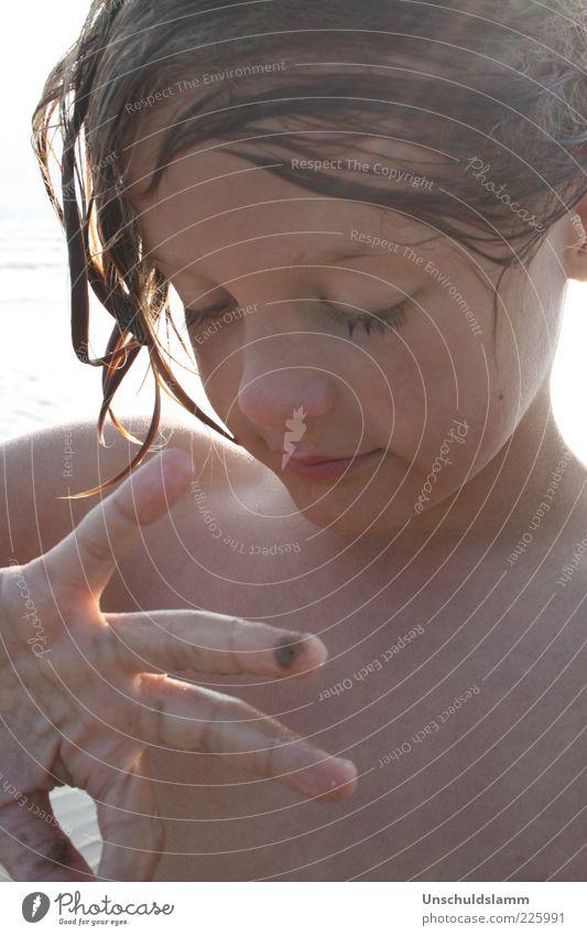 Ich sehe was,was Du nicht siehst..... Mensch Kind Wasser Hand schön Sommer Meer Strand Gesicht Leben Gefühle Junge Haare & Frisuren Glück träumen Kindheit