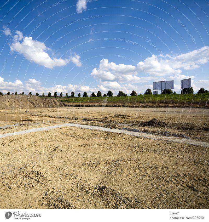 Platz Natur Wolken Ferne Umwelt Landschaft Sand Erde ästhetisch Wachstum authentisch neu Industrie Baustelle Zeichen Schönes Wetter positiv