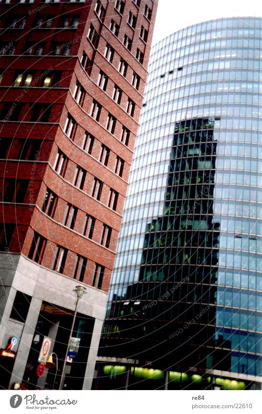 Berlin am Sonycenter 2 Architektur glänzend Glas Hochhaus modern Potsdamer Platz Sony Center Berlin