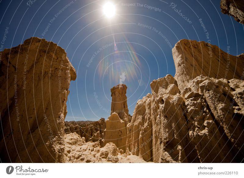 Wüste, Berge, Sonne Himmel Natur Sonne Sommer Berge u. Gebirge Landschaft Umwelt Wärme Felsen Tourismus natürlich Urelemente Reisefotografie trocken Dürre Expedition