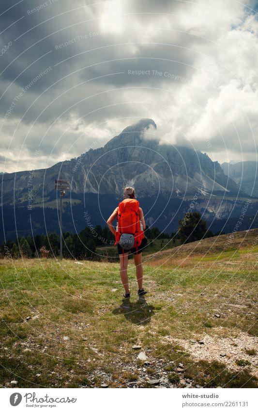 Berg in Sicht Ferien & Urlaub & Reisen Tourismus Ausflug Abenteuer Sommer Sommerurlaub Junger Mann Jugendliche 18-30 Jahre Erwachsene Hügel Felsen Alpen