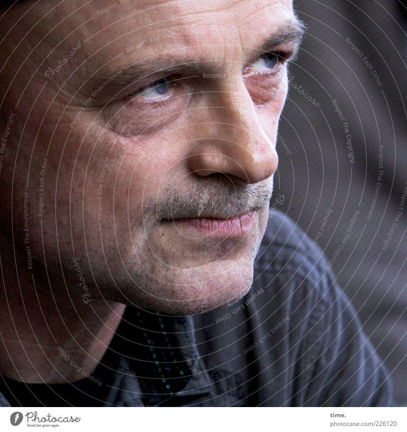 Die Konzentration Mensch Mann Gesicht Auge Kopf Erwachsene Mund maskulin authentisch 45-60 Jahre Neugier Wachsamkeit Gesichtsausdruck Interesse hart