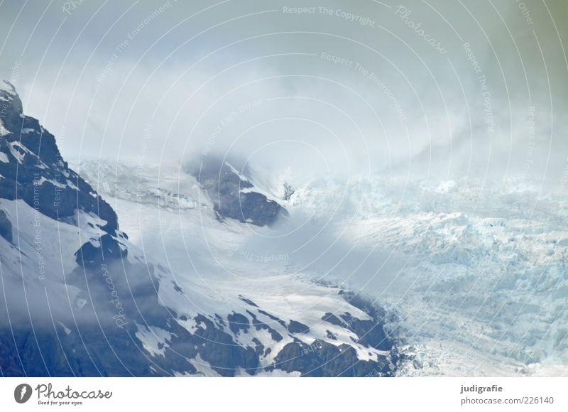 Island Umwelt Natur Landschaft Wolken Klima Eis Frost Felsen Berge u. Gebirge Schneebedeckte Gipfel Gletscher Gletscher Vatnajökull außergewöhnlich kalt