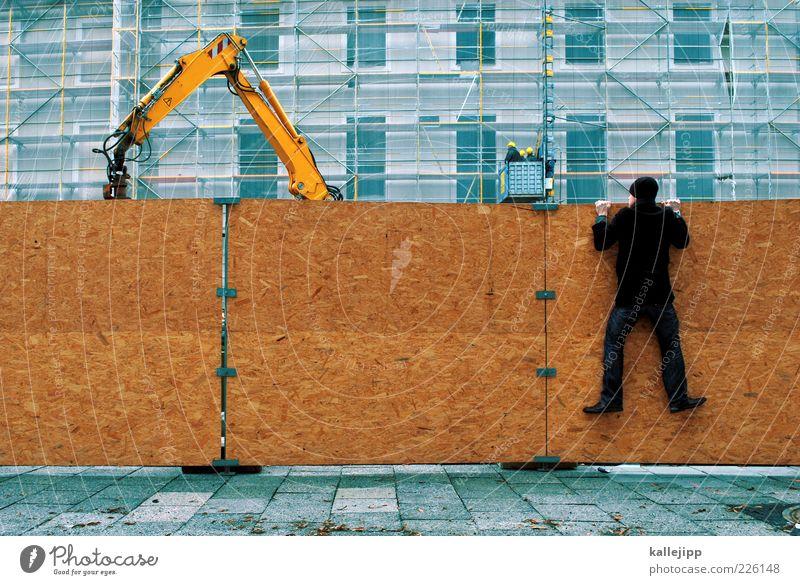 wo die wilden kerle wohnen Mensch Mann Stadt Erwachsene Haus Wand Mauer Arbeit & Erwerbstätigkeit Schuhe Industrie Baustelle Technik & Technologie Bildung festhalten Neugier Beruf