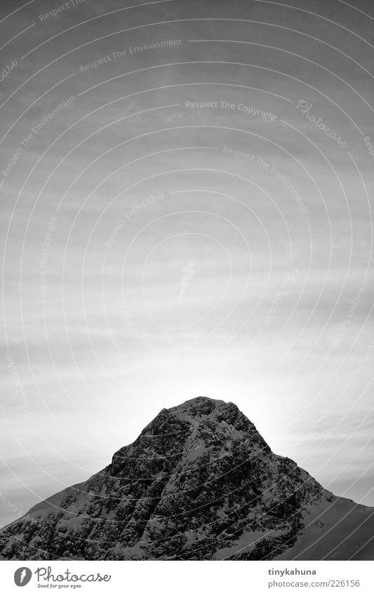 im Lechtal Ferne Freiheit Winter Schnee Berge u. Gebirge Landschaft Luft Himmel Nebel Eis Frost Felsen Alpen Schneebedeckte Gipfel frieren träumen warten