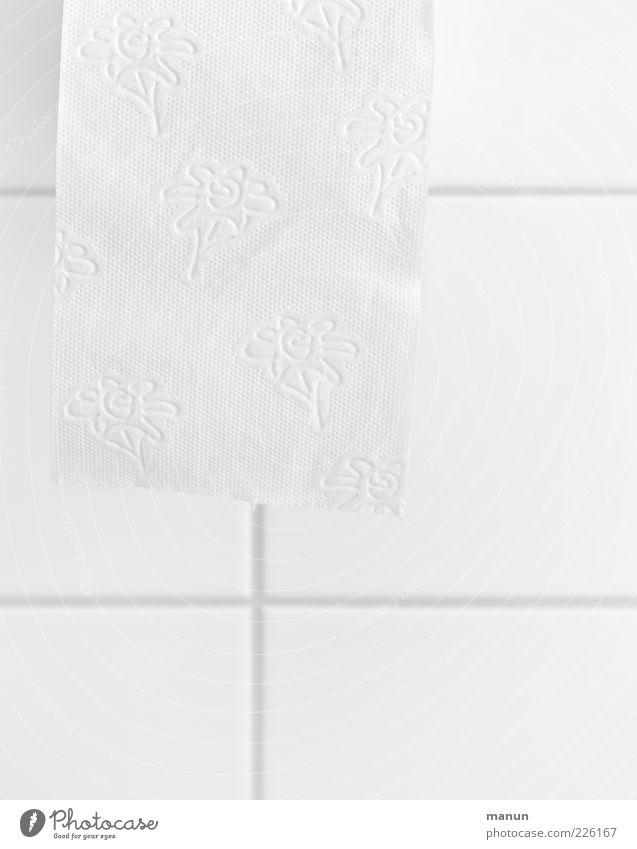 Für'n A... weiß frisch authentisch Sauberkeit weich Bad einfach rein Toilette Körperpflege Körperpflegeutensilien Reinlichkeit Toilettenpapier Blumenmuster