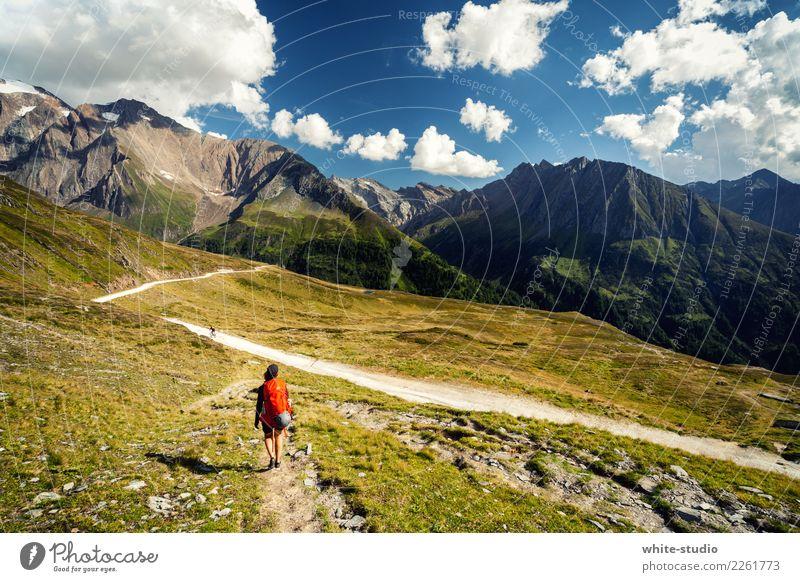 Abkürzung Frau Natur Ferien & Urlaub & Reisen Sommer Landschaft Sonne ruhig Ferne Berge u. Gebirge Erwachsene Leben Umwelt Tourismus Freiheit Ausflug
