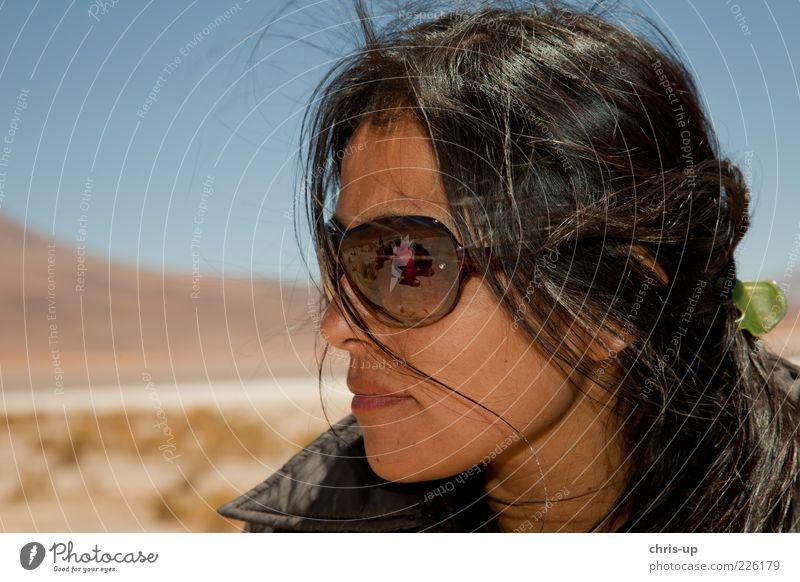 Südamerikanerin Frau Mensch Jugendliche schön Sommer Ferien & Urlaub & Reisen Gesicht feminin Freiheit Kopf Erwachsene braun Wind Tourismus Lifestyle Coolness