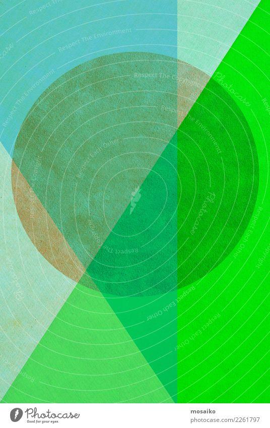 Kreisrund 2 blau grün Hintergrundbild Stil Design Zufriedenheit Linie retro elegant ästhetisch Kreativität Papier Zeichen Grafik u. Illustration