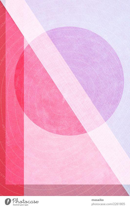 Kreisrund Hintergrundbild Stil Kunst Mode rosa Design Linie retro Papier Grafik u. Illustration Sicherheit Fahne trendy sportlich