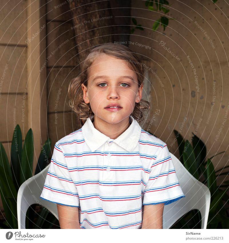 140 [ganz ich - ganz du] Mensch Kind schön Sommer Blatt ruhig Gesicht Leben natürlich Kindheit blond sitzen authentisch leuchten frei ästhetisch