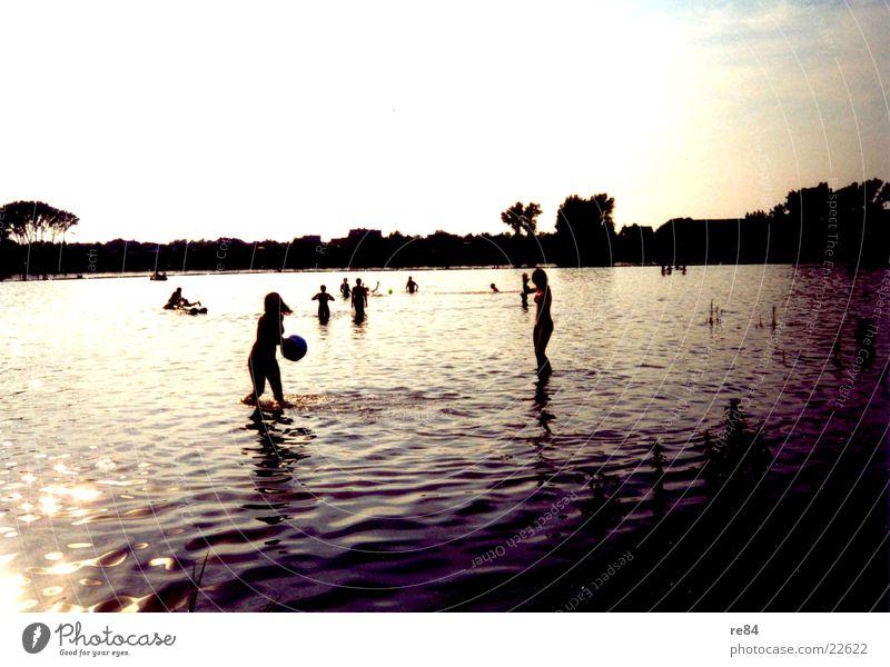 Wasserspiele Rottersee Sonne See Reflexion & Spiegelung Köln Schatten Sonnentag
