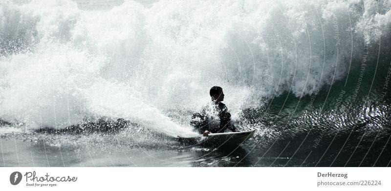 RailGrab Wasser Meer Sport Wellen Lifestyle Surfen Brandung Surfer Gischt Surfbrett Extremsport Monsterwelle Wellenkamm