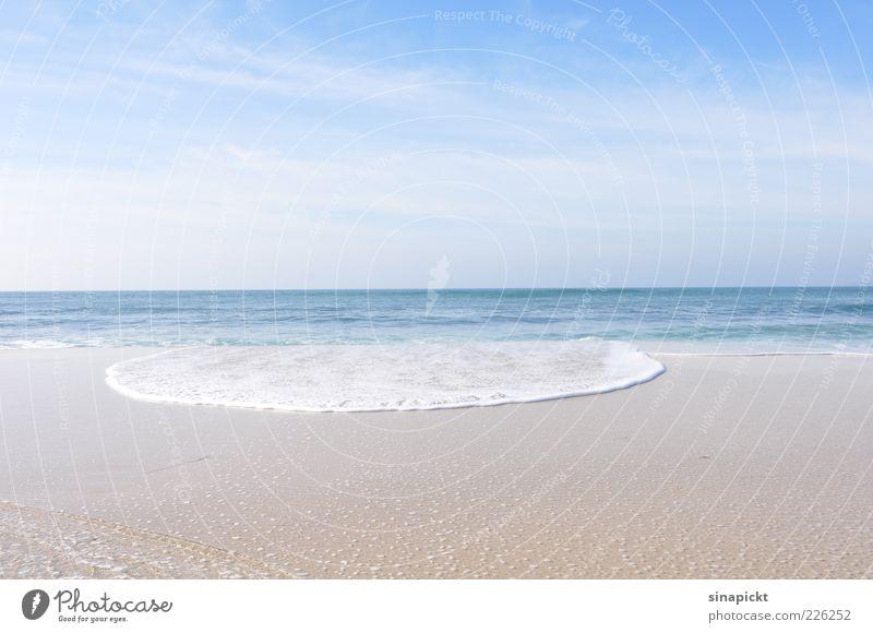 die welle Umwelt Natur Landschaft Urelemente Sand Wasser Himmel Sommer Schönes Wetter Wellen Küste Meer ästhetisch außergewöhnlich Ferne schön blau Freiheit