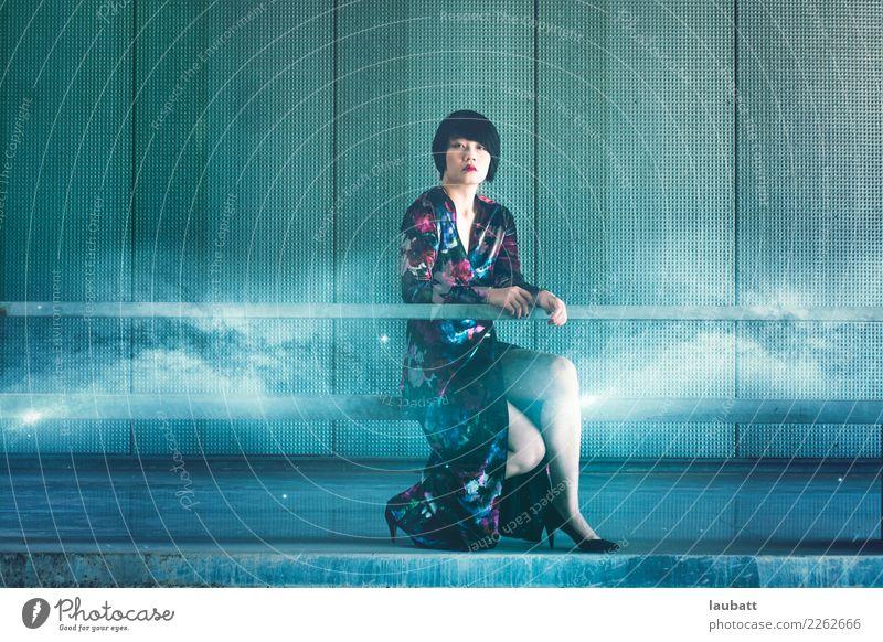 Galaktisches chinesisches Mädchen Mensch Jugendliche Junge Frau Erholung 18-30 Jahre Erwachsene Erde glänzend Energiewirtschaft Technik & Technologie