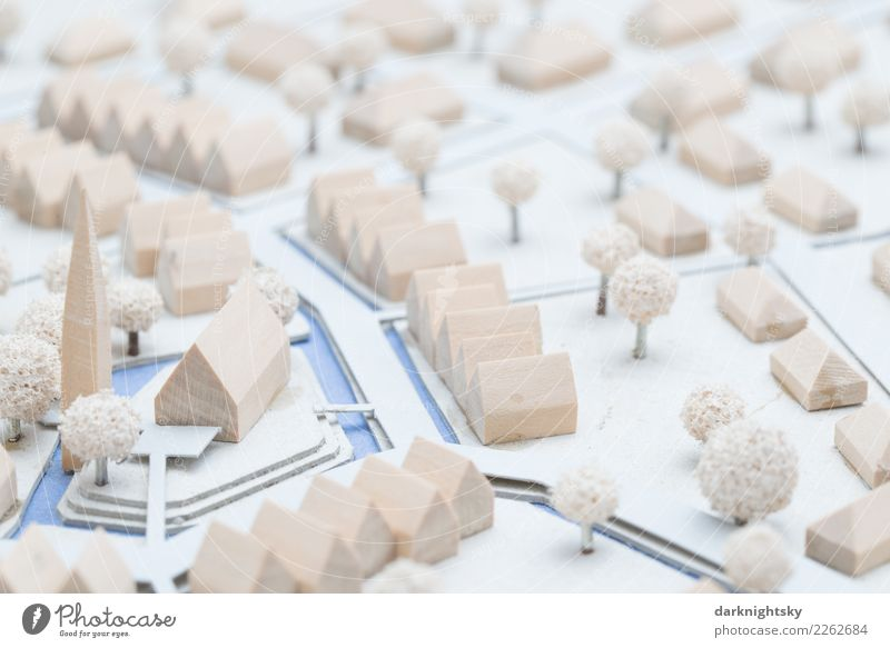 Architektur Modell | Architektur Modell Eines Dorfes Ein Lizenzfreies Stock Foto Von