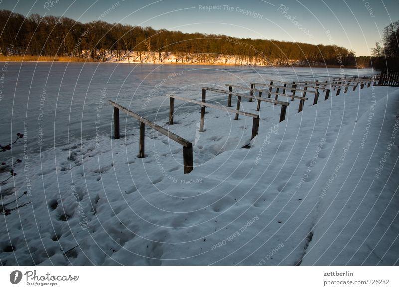 Wie sich Kalle und Zett mal ganz knapp verpaßt haben Himmel ruhig Winter kalt Schnee Berlin Freiheit Umwelt Landschaft See Wetter Eis Freizeit & Hobby Frost