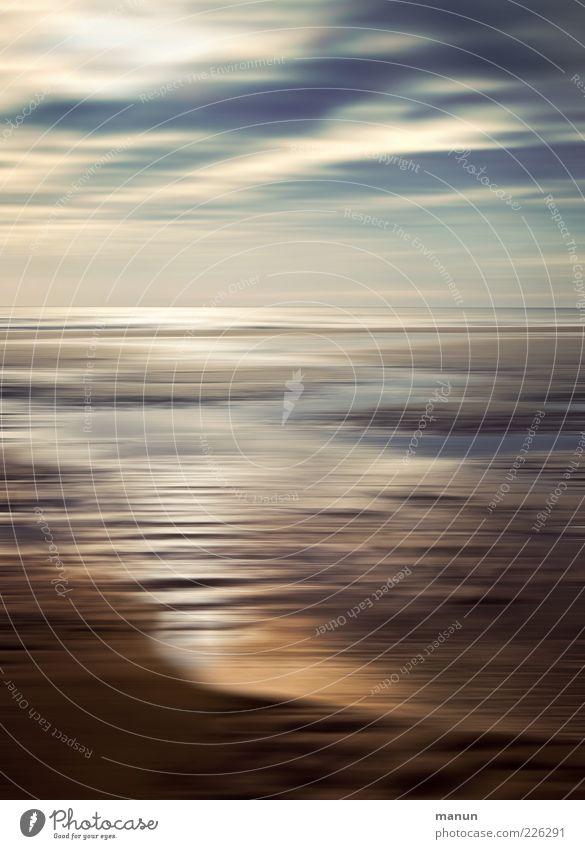 Watt'n Licht Ferien & Urlaub & Reisen Sommer Strand Meer Urelemente Sand Wasser Himmel Wolken Nordsee Wattenmeer schön Fernweh Erholung Idylle Ferne Farbfoto