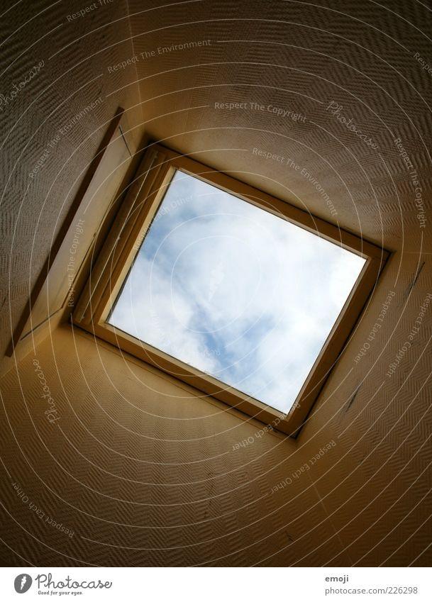 beam me up, Scotty Himmel Wolken Fenster oben Perspektive Loch Rechteck Dachfenster himmelwärts