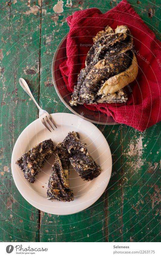 Mohnzopf Essen Lebensmittel Ernährung frisch süß lecker Süßwaren Backwaren Teigwaren Kaffeetrinken Plunder
