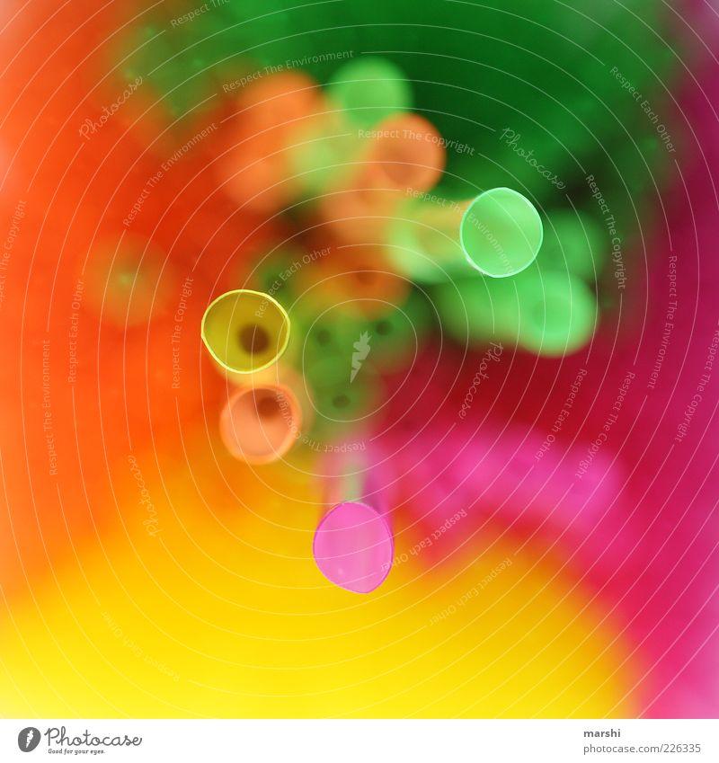 Röhrchen grün gelb rosa verrückt Perspektive Halm Röhren knallig grell Trinkhalm Farbe mehrfarbig