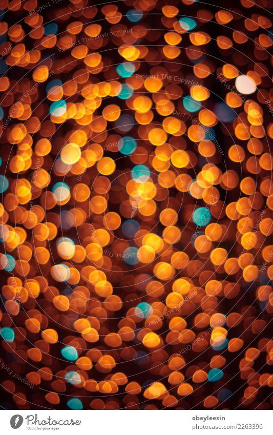 glitzernde Sterne auf Bokeh blau Farbe weiß rot dunkel schwarz gelb Feste & Feiern Design hell Dekoration & Verzierung glänzend neu Reichtum Disco